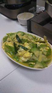 台湾のアムウェイの料理教室で作った瓜の料理