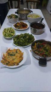 台湾のアムウェイの料理教室で作った料理一式