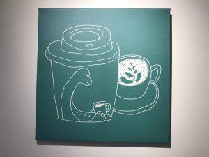 Patch Cafe(補丁咖啡)に掲げられている絵
